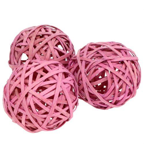 Chipboard Pink Ø6cm 6pcs