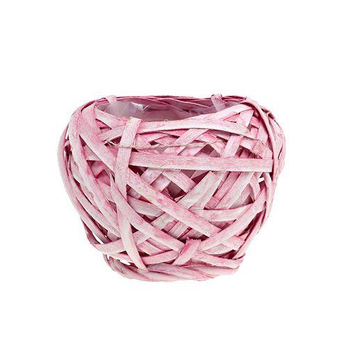Spank basket round Ø15cm H14cm Pink