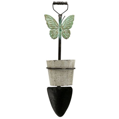 Decorative spade for hanging with plant pot 57,5cm
