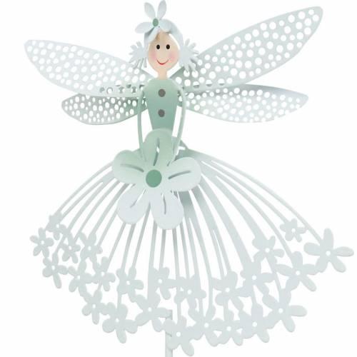 Decorative plug flower fairy, metal decoration, elf on a stick, flower plug, spring decoration