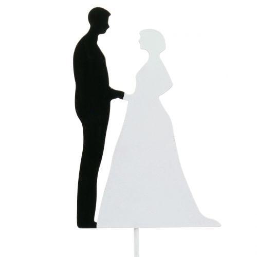 Deco-cutlery bridal couple H20cm 4pcs