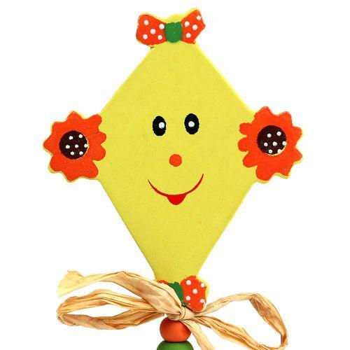 Flower plug Dragon yellow L31cm 4pcs