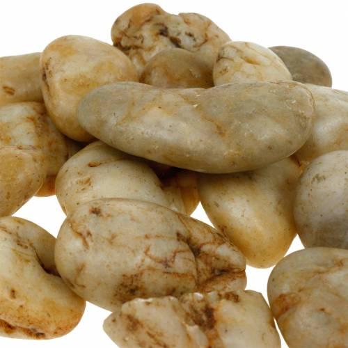 River pebbles natural cream 3-5cm 1kg