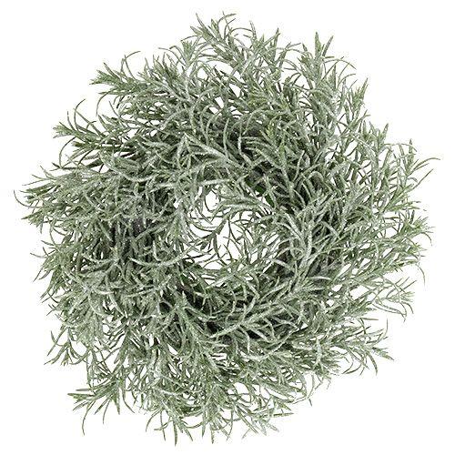 Stone disk bush with glitter 37cm
