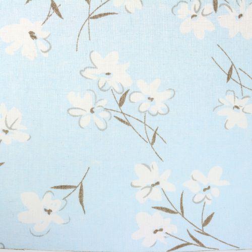 Decoration fabric flowers blue 30cm x 3m