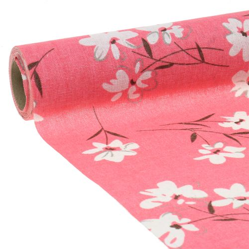 Deco fabric flowers Pink 30cm x 3m