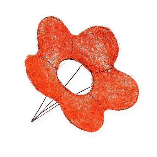 Sisal Flower Cuff Orange Ø20cm 10pcs