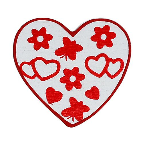 Scatter hearts sort. 3cm 24pcs