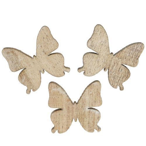 Scattered decoration butterfly wood nature 2cm 144p