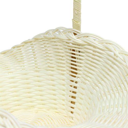 Scattering Basket for Wedding Plastic White Ø15cm H32cm
