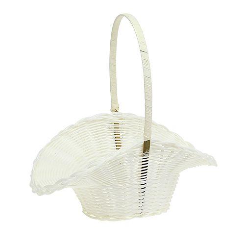 Scattering basket white Ø14cm H31cm