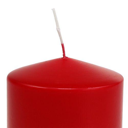 Pillar candle 100/100 red 4pcs