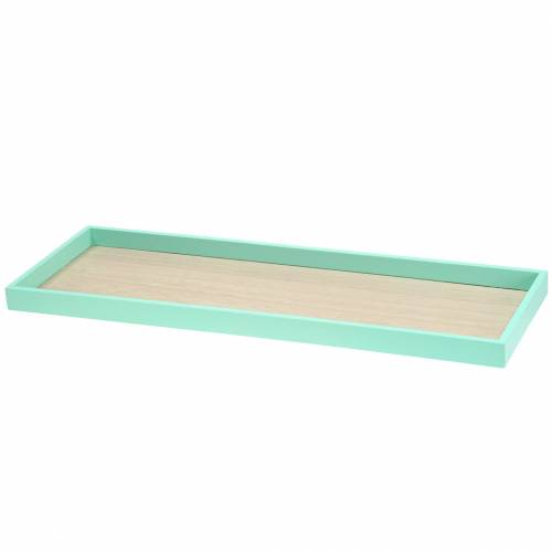 Wooden tray green 49cm x 16.5cm