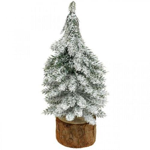 Decorative Christmas tree, winter decoration, fir tree with snow H19cm