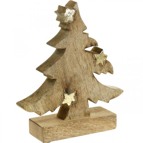 Christmas tree mango wood natural deco Christmas tree 20 × 18 × 5cm