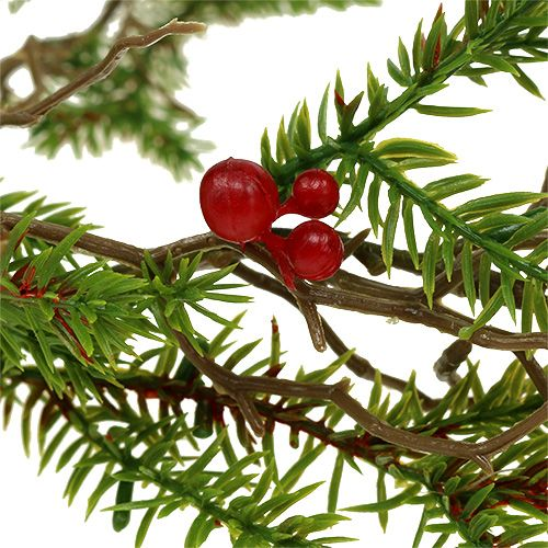 Fir garland with berries green, red L119cm