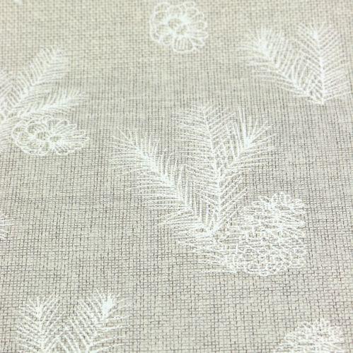 Tablecloth with fir motive gray 20cm 5m