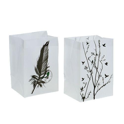 Table ornament Plastic bag with motif 10x8x15cm 8pcs