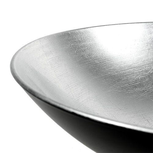 Table top bowl silver Ø28cm plastic
