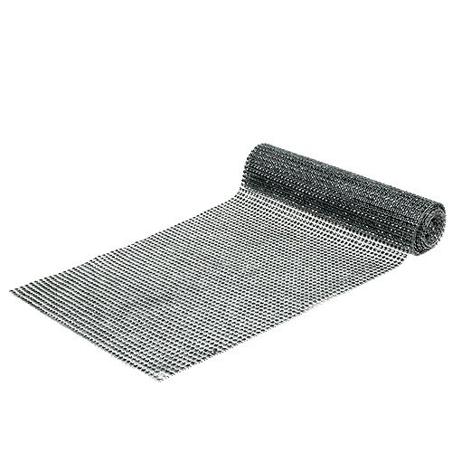 Table runner with sequins silver B25cm L228cm