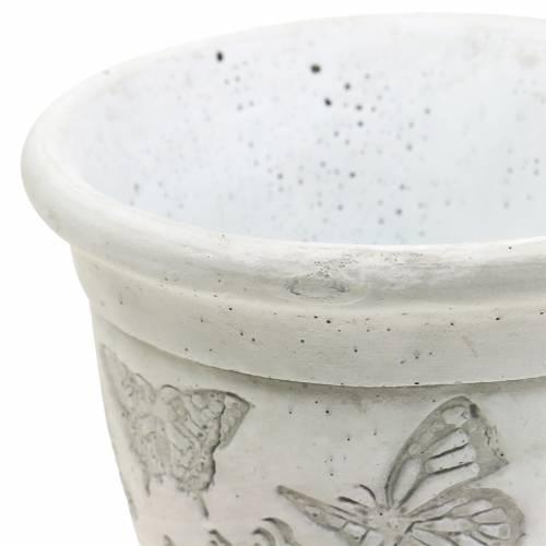 Plant pot planter cup with butterflies Ø12,5cm H13cm 2pcs