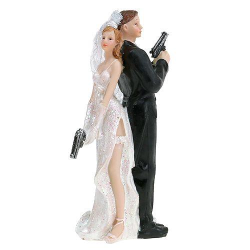 Pie figure bridal couple 15.5cm