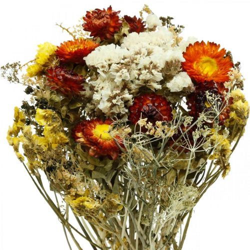 Dried flower bouquet Everlasting flowers and sea lavender 125g dried flowers