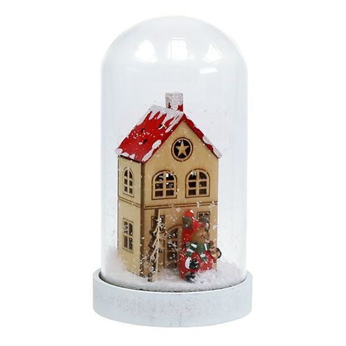 Christmas decoration house with bell Ø9cm H16,5cm