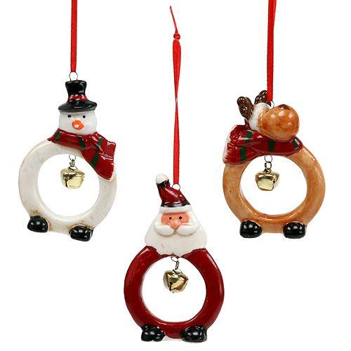 Christmas figures 8cm - 10cm for hanging 3pcs