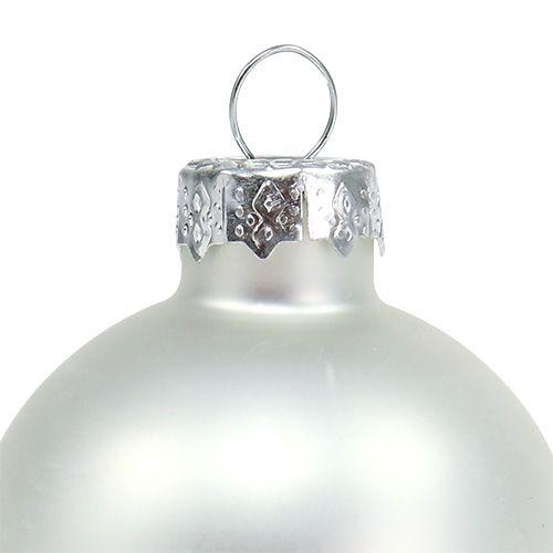 Christmas Ball Ø4cm Silver Gloss / Matt 24pcs
