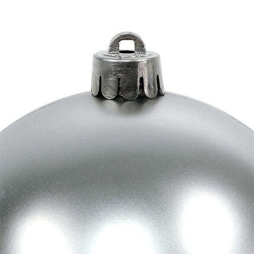 Christmas ball silver Ø10cm 4pcs