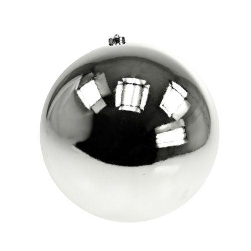 Christmas ball plastic medium Ø20cm silver