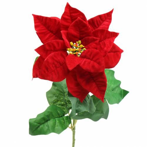 Poinsettia Art Flower Red 67cm