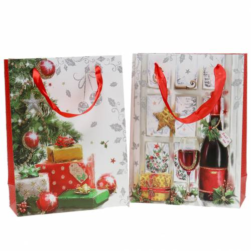 Gift bag Christmas 8cm x 18cm x 24cm set of 2