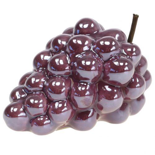 Grape ceramic lilac 10cm 2pcs
