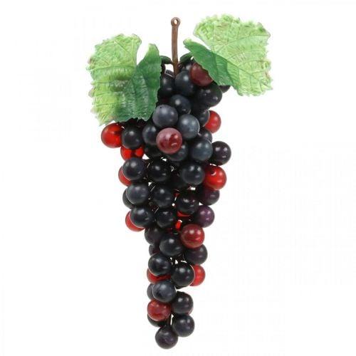 Deco grape black artificial fruit shop window decoration 22cm