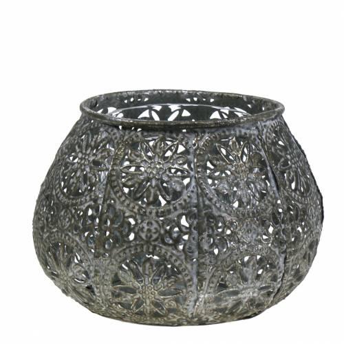 Lantern Orient Antique Silver Ø13cm H9.5cm