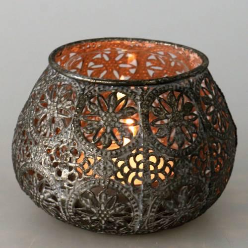 Windlight Orient Antique Silver Ø13cm H9,5cm