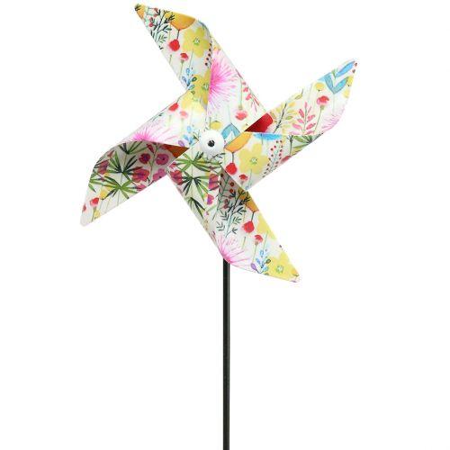 Summer decoration Windmill Ø14cm multicolored on the stick 3pcs