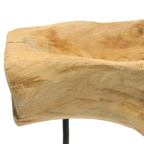 Root bowl on the stand nature H38cm