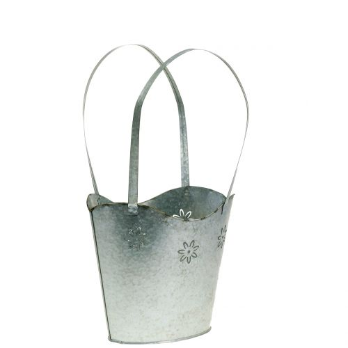 Planter bag in zinc H25,5cm