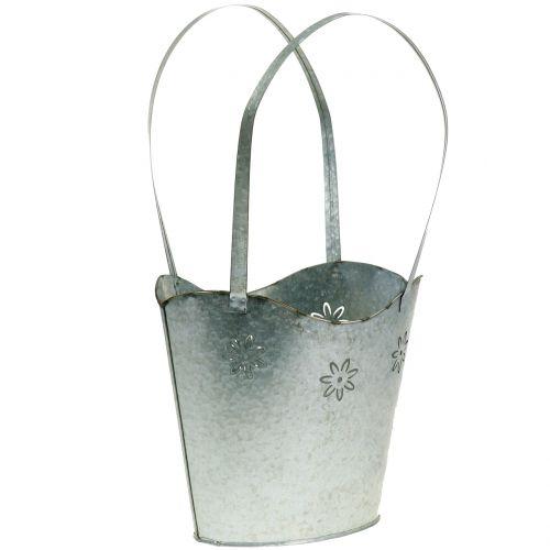 Planter bag in zinc H36cm