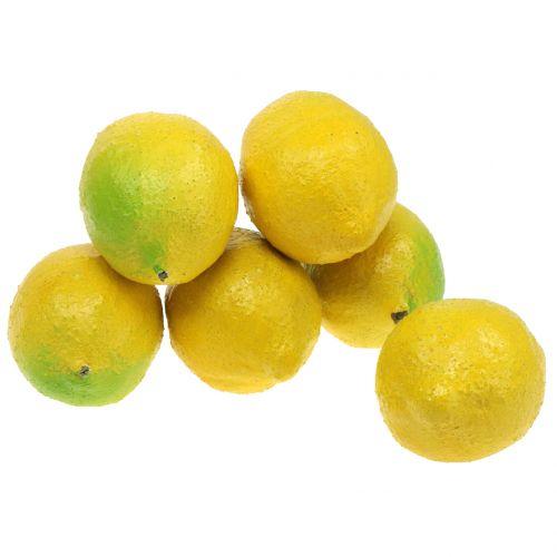 Deco lemons 10cm 6pcs