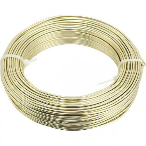 Aluminum wire Ø2mm champagne decorative wire round 480g
