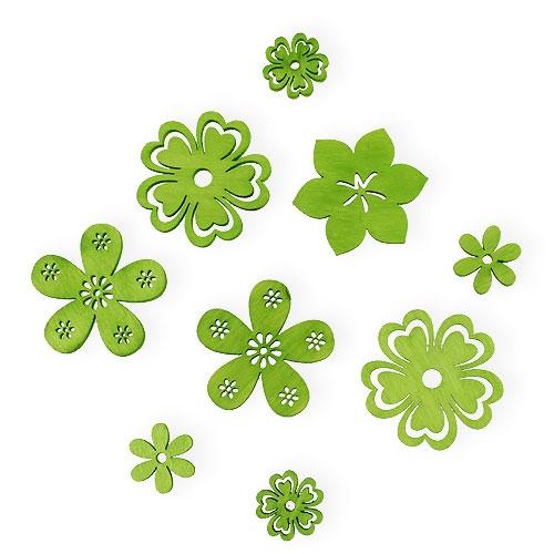Dekoblumen Green Ø2cm - Ø4cm 96pcs