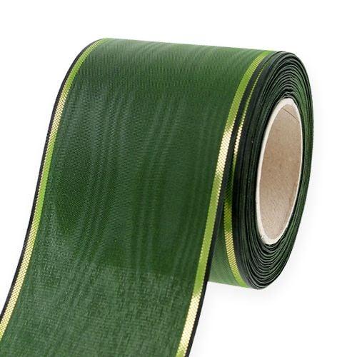 Wreath ribbon dark green 75mm 25m