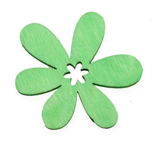 Scatter Decoration Wooden Flowers Multiple colors Ø4cm 72pcs