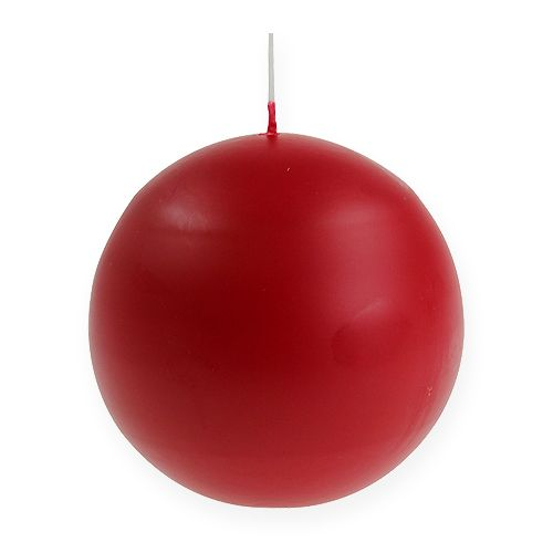 Ball candles 100mm red 6pcs