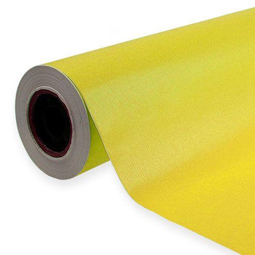 Cuff paper yellow 25cm, 100m