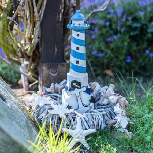 Lighthouse light blue 34cm